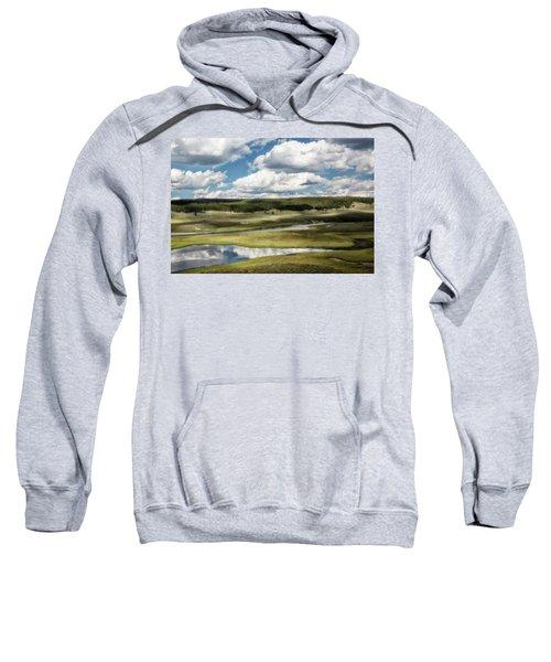 Yellowstone Hayden Valley National Park Wall Decor Sweatshirt
