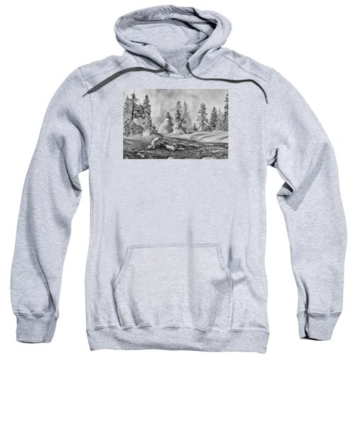 Yellowstone In Winter Sweatshirt