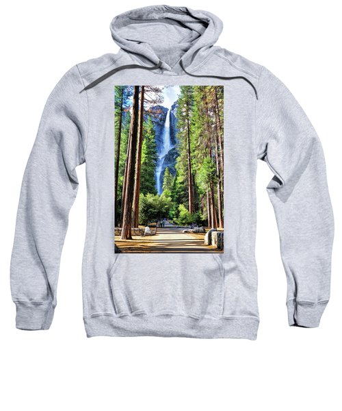 Yosemite National Park Bridalveil Fall Trees Sweatshirt