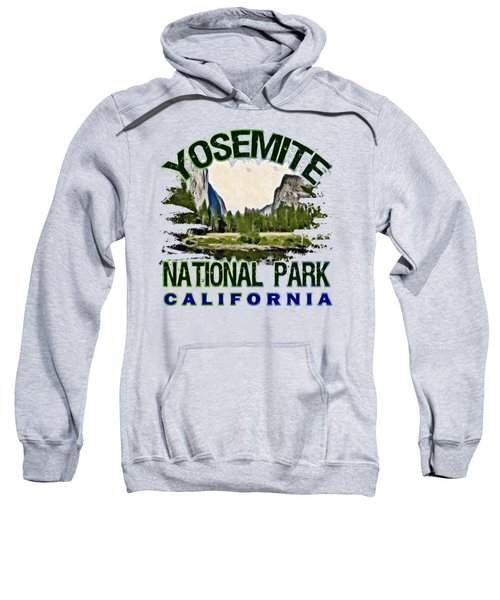 Yosemite National Park Sweatshirt by David G Paul