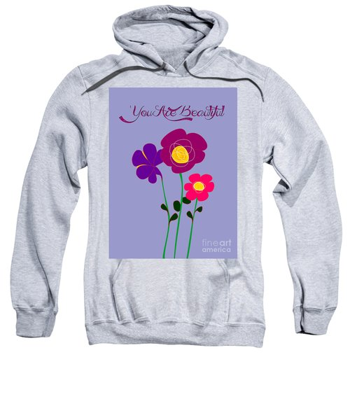 You Are Beautiful - Poppies Sweatshirt