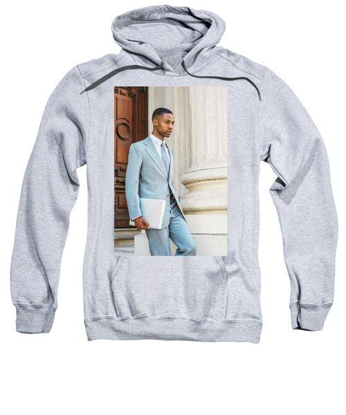Young African American Businessman Working In New York Sweatshirt