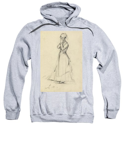 Young Woman With A Broom Sweatshirt