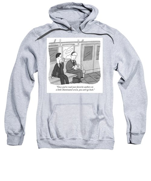 Your Favorite Authors On A Little Illuminated Screen Sweatshirt