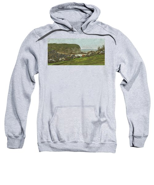 Yport And The Falaise D'aval Sweatshirt