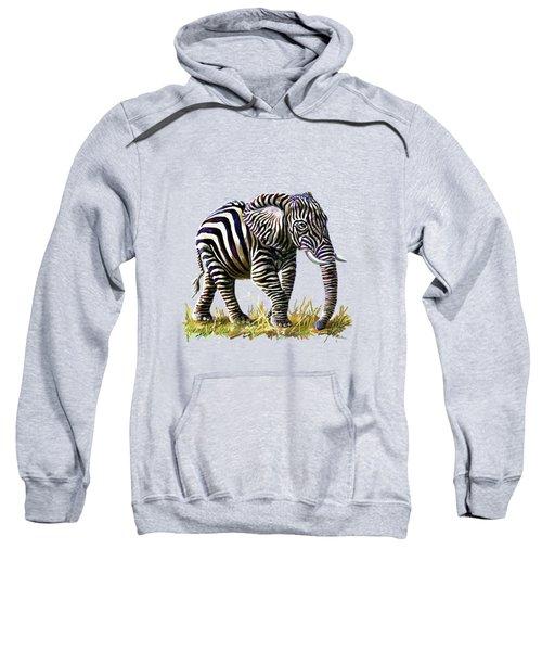 Zebraphant Sweatshirt by Anthony Mwangi