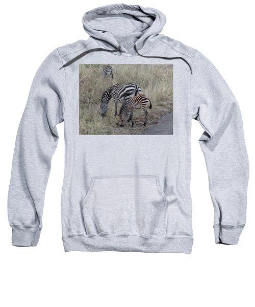 Zebras In Kenya 1 Sweatshirt by Exploramum Exploramum