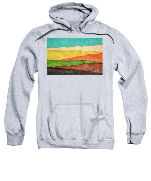 Abstract Landscape Created With Handmade Paper Sweatshirt