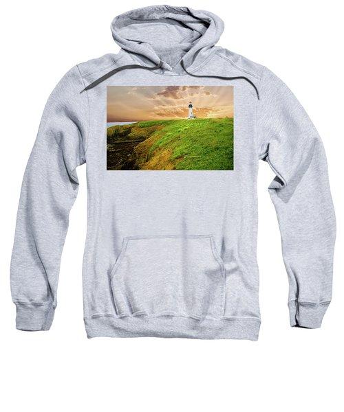 Lighthouse On  Yaquina Head  Sweatshirt