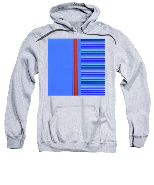 Blue With Red Stripe Sweatshirt