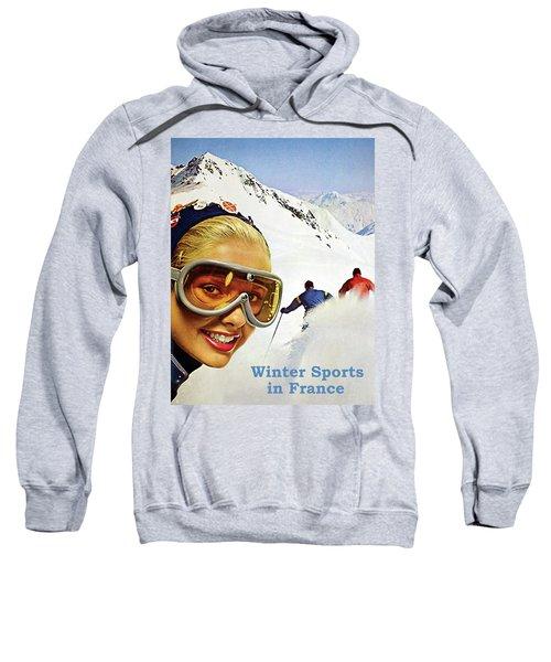 Winter Sports In France Sweatshirt