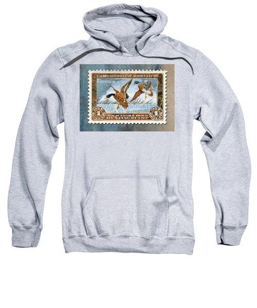 1934 Hunting Stamp Collage Sweatshirt