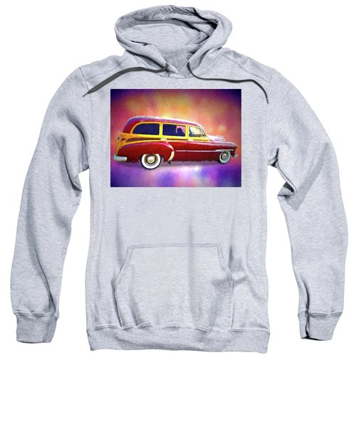 1951 Chevy Woody Sideview Sweatshirt