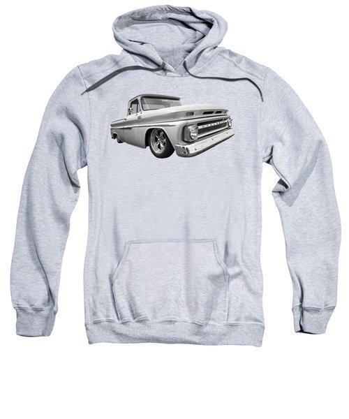 1965 Chevy C10 Truck In Black And White Sweatshirt