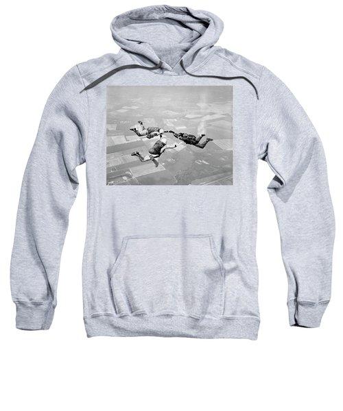 1970s Three Men Holding Hands Sky Diving Sweatshirt