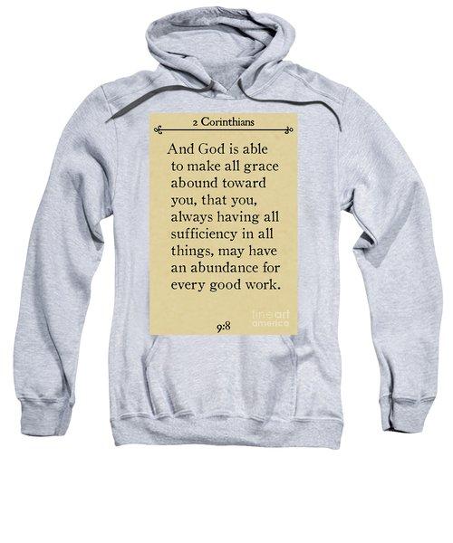 2 Corinthians 9 8-bible Verse Wall Art Collection Sweatshirt