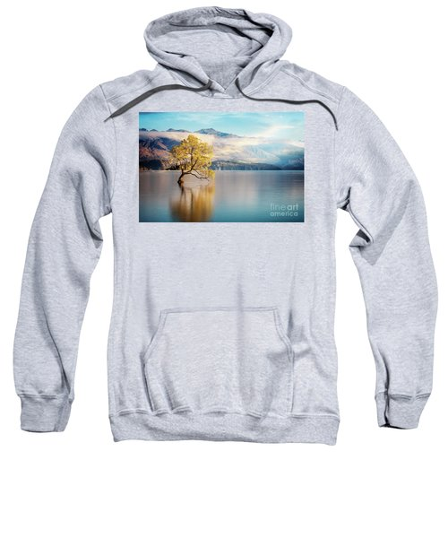 Sweatshirt featuring the photograph Alone And Determined by Scott Kemper