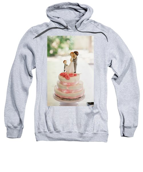Desserts And Wedding Cake With Very Sweet Cupcakes At An Event. Sweatshirt