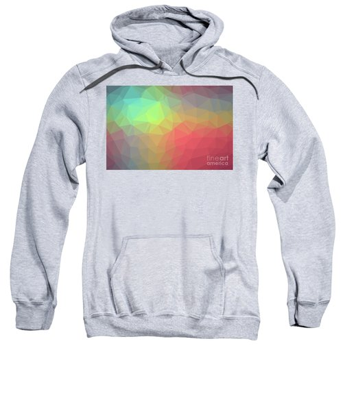 Gradient Background With Mosaic Shape Of Triangular And Square C Sweatshirt