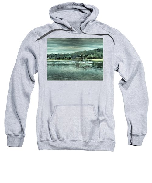 Boats At Northport Harbor Sweatshirt