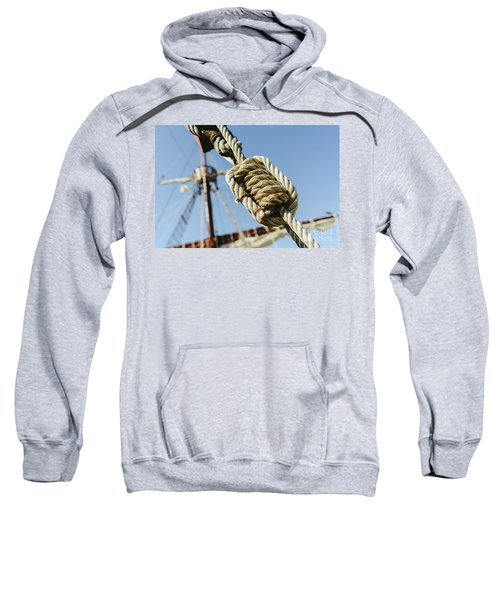 Rigging And Ropes On An Old Sailing Ship To Sail In Summer. Sweatshirt