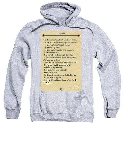 Psalm 23-bible Verse Wall Art Collection Sweatshirt