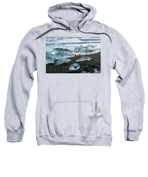 The Diamond Beach, Jokulsarlon, Iceland Sweatshirt