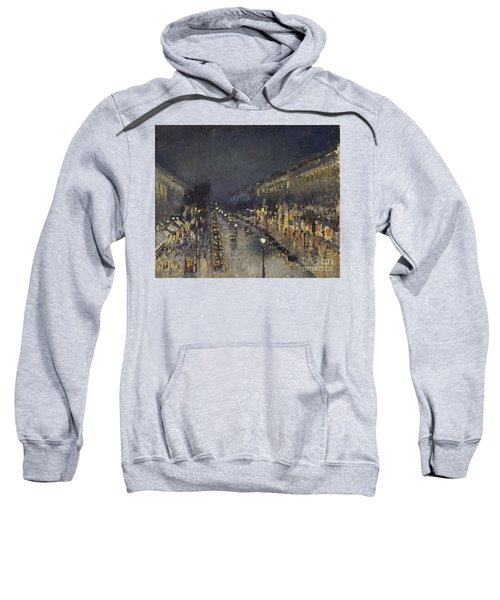The Boulevard Montmartre At Night Sweatshirt