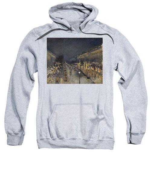 The Boulevard Montmartre At Night Sweatshirt