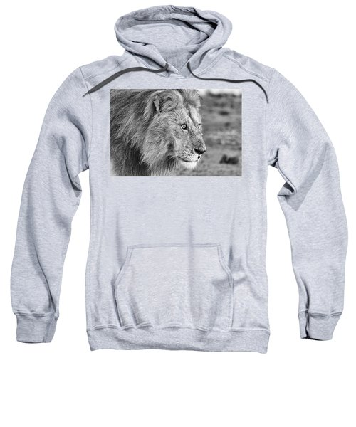 A Monochrome Male Lion Sweatshirt