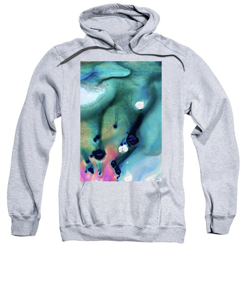 Abstract Art - A Touch Of Pink - Sharon Cummings Sweatshirt