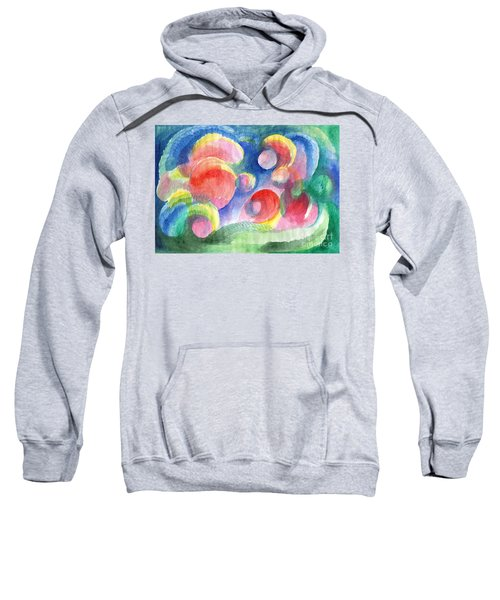 Abstract Bubbles Watercolor Sweatshirt