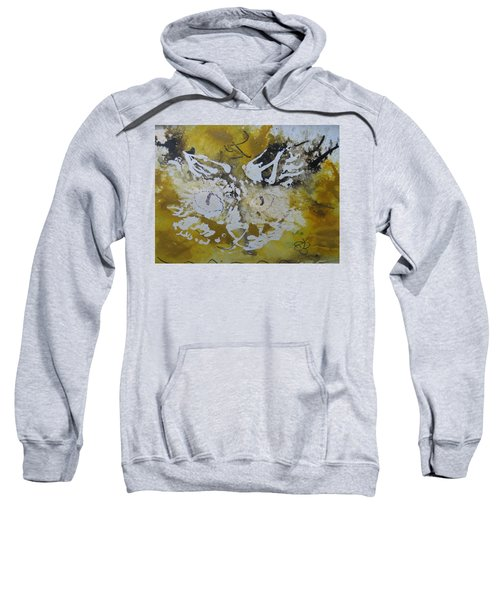 Abstract Cat Face Yellows And Browns Sweatshirt