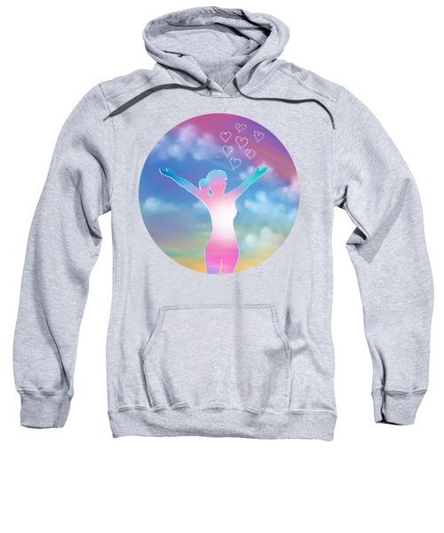 Abstract Happy Woman  Sweatshirt