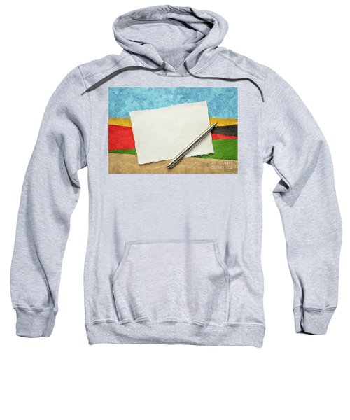Abstract Landscape With A Blank Note Sweatshirt