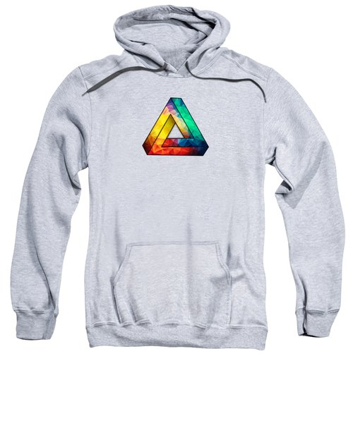 Abstract Polygon Multi Color Cubism Low Poly Triangle Design Sweatshirt