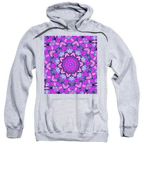 Abstract Spun Flower Sweatshirt