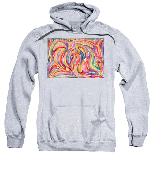 Abstraction In Autumn Colors Sweatshirt