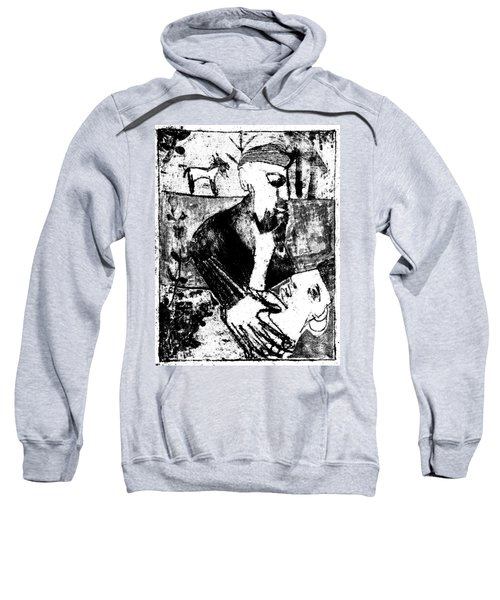 After Childish Edgeworth Black And White Print 26 Sweatshirt