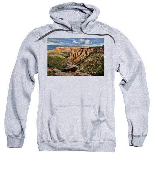 After The Storm Light On Colorado National Monument Sweatshirt