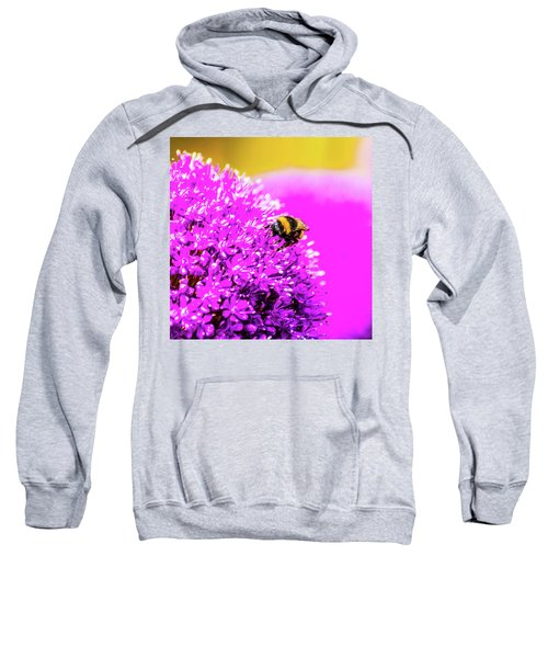 Allium With Bee 2 Sweatshirt
