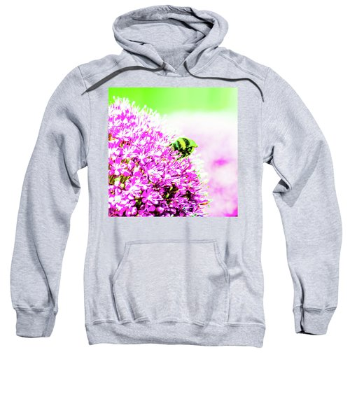 Allium With Bee 3 Sweatshirt