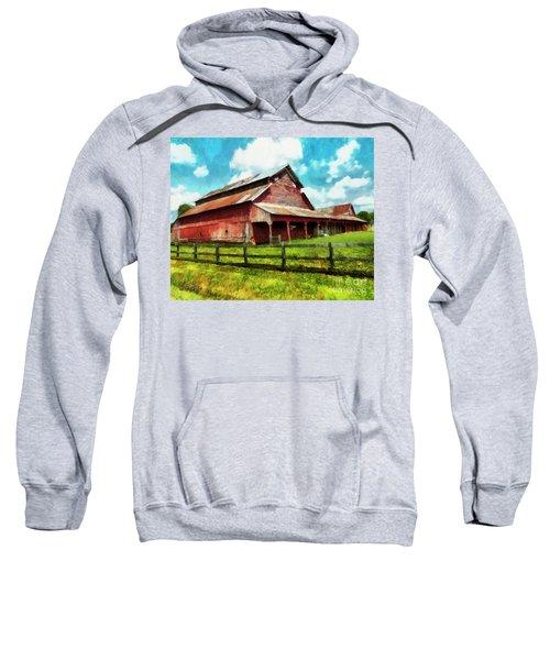 Along The Rural Road Old Barn In Tennessee IIi Sweatshirt