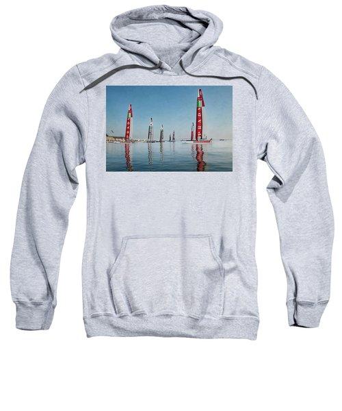 America Cup Boat Reflections Sweatshirt