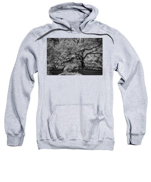 Angel Oak Tree Black And White Sweatshirt