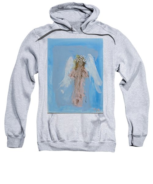 Angel With A Crown Of Daisies Sweatshirt