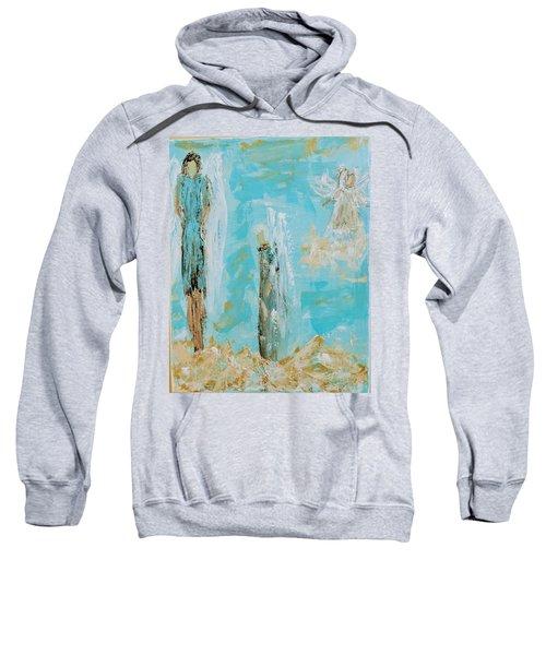 Angels Appear On Golden Clouds Sweatshirt