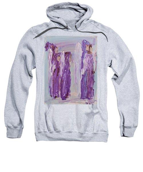 Angels In Purple Sweatshirt