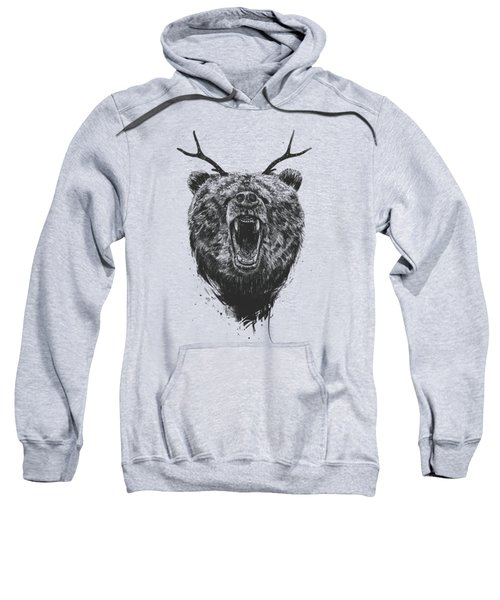 Angry Bear With Antlers Sweatshirt