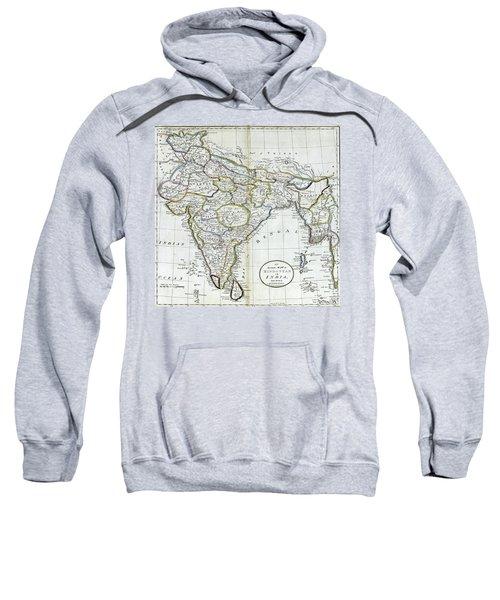 Antique Map Of India   Sweatshirt